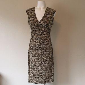 BCBG Tan Ruched Dress